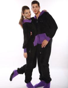 Dospělé dupačky Skippy teddy black purple