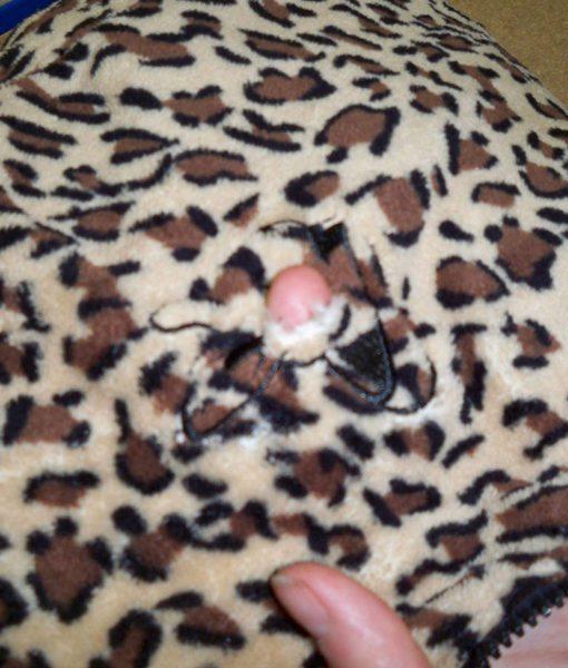 Dospělé dupačky 5 – Teddy leopard – vada