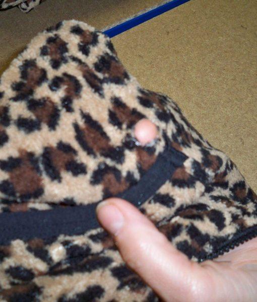 Dospělé dupačky 6 – Teddy leopard – vada
