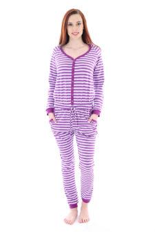 Dospělé dupačky Dámský overal purple strip