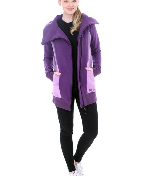 Dospělé dupačky Mikino-kabátek purple