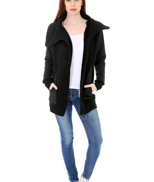 Dospělé dupačky Mikino-kabátek black grey
