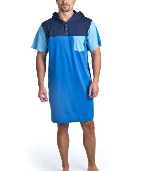 Dospělé dupačky Pánská noční košile navy blue