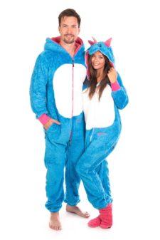 Dospělé dupačky Skippy teddy blue unicorn
