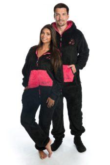 Dospělé dupačky Skippy teddy black pink